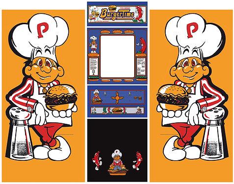 BurgerTime Side Art Arcade Cabinet