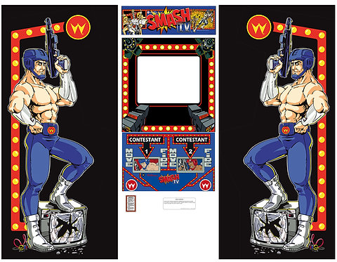 "Smash Tv 19"" Side Art Arcade Cabinet"