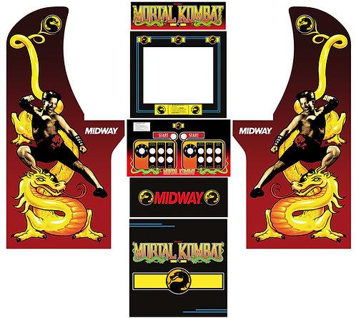 Mortal Kombat Side Art Arcade1Up Cabinet