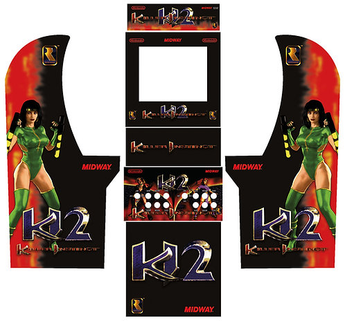 Killer Instinct 2 Side Art Arcade1Up Cabinet