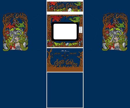 Ghosts'n Goblins Side Art Arcade Cabinet