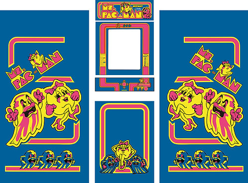 Ms Pac-Man Side Art Arcade Cabinet