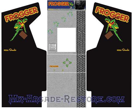 Frogger Arcade Cabinet Side Art