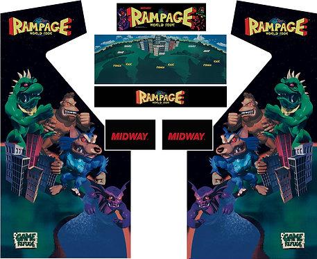 Rampage World Tour RWT Side Art Arcade Cabinet
