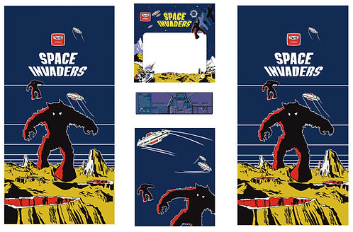 Space Invaders Side Art Arcade Cabinet
