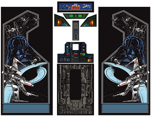 Star Wars Side Art Arcade Cabinet