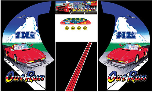 Outrun Side Art Arcade Cabinet