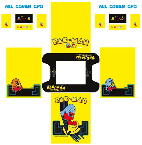 Pac-Man Cocktail Side Art Arcade Cabinet
