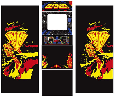 Defender Side Art Arcade Cabinet