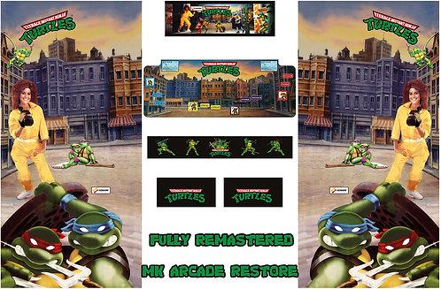 Teenage Mutant Ninja Turtles Side Art Arcade