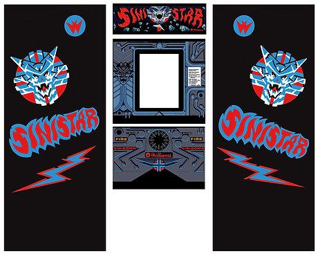 Sinistar Side Art Arcade Cabinet