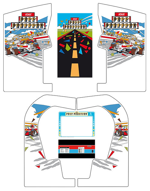 Pole Position Side Art Arcade Cabinet