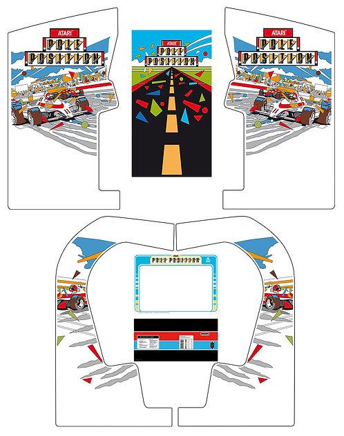 Pole Position Side Art Arcade Cabinet