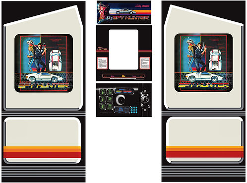 Spy Hunter Side Art Arcade Cabinet