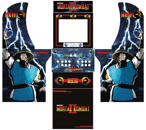 Mortal Kombat 2 MKII Side Art Arcade1Up Cabinet