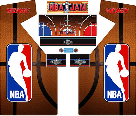 Nba Jam Side Art Arcade Cabinet