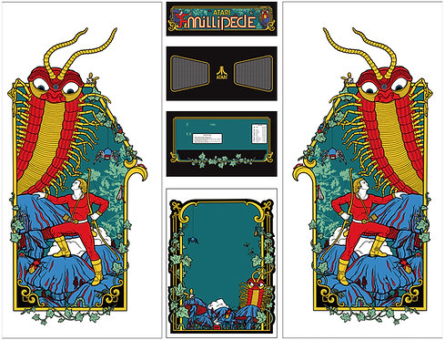 Millipede Side Art Arcade Cabinet