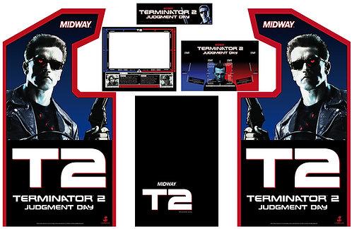 Terminator 2 T2 Side Art Arcade Cabinet