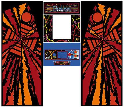 Gyruss Side Art Arcade Cabinet