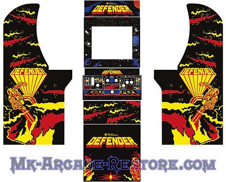 Defender Arcade1Up Side Art