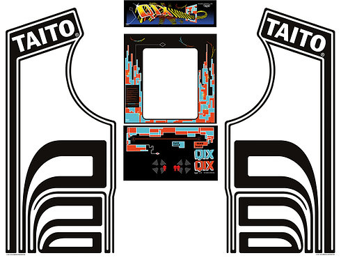 Qix Side Art Arcade Cabinet