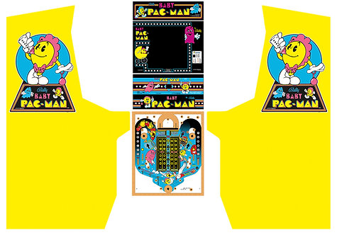 Baby Pac-Man Side Art Arcade Cabinet