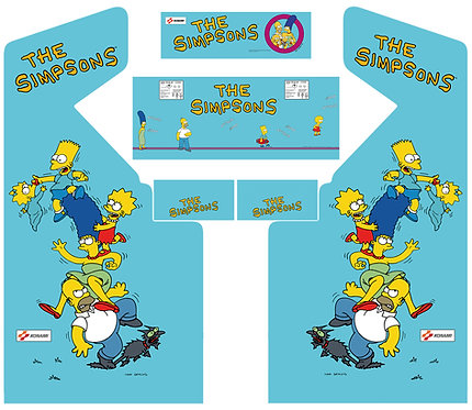 The Simpsons Side Art Arcade Cabinet