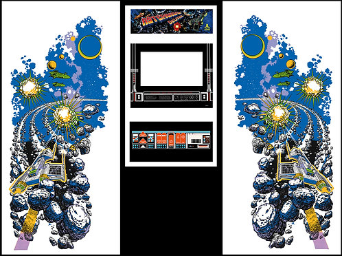 Asteroids Deluxe Side Art Arcade Cabinet