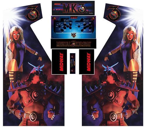 Mortal Kombat 3 MKIII Side Art Arcade Cabinet