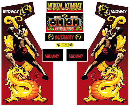 Mortal Kombat Side Art Arcade Cabinet