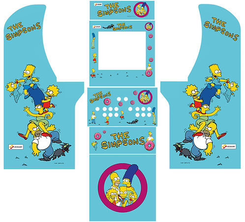 The Simpsons Set Side Art Arcade1Up