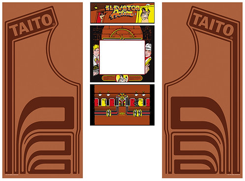 Elevator Action Side Art Arcade Cabinet