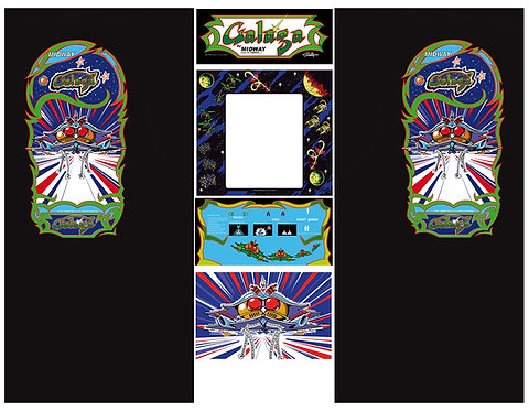 Galaga Side Art Arcade Cabinet