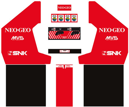 "MVS 4 Rev.2 ""Neo-Geo"" Side Art Arcade Cabinet"