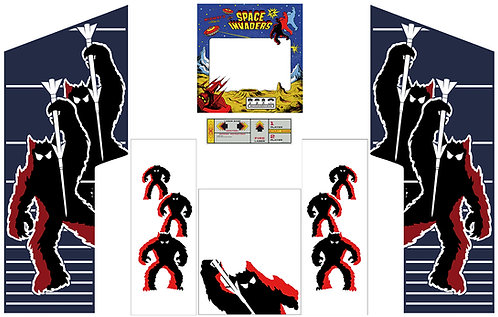 Space Invaders Midway Side Art Arcade Cabinet