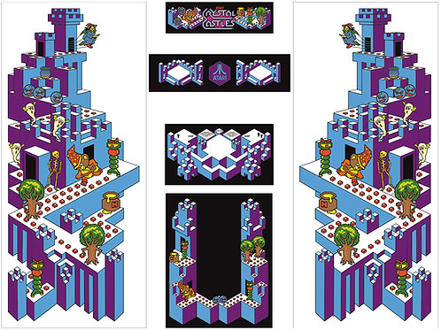 Crystal Castles Side Art Arcade Cabinet