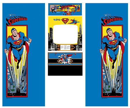 Superman Side Art Arcade Cabinet