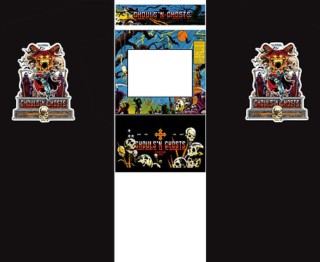 Ghouls'n Ghosts Side Art Arcade Cabinet