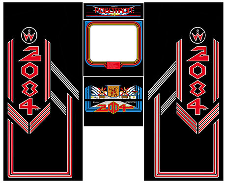 Robotron UK Side Art Arcade Cabinet