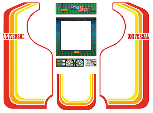 Mr.Do Side Art Arcade Cabinet