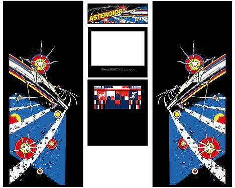 Asteroids Side Art Arcade Cabinet