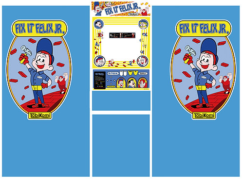Fix It Felix Jr Side Art Arcade Cabinet