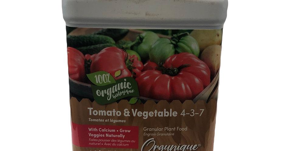 Organic Tomato & Vegetable 4-3-7, 1.8kg