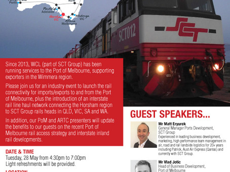INDUSTRY EVENT - Launch Horsham Victoria - On Rail to the Nation & Port