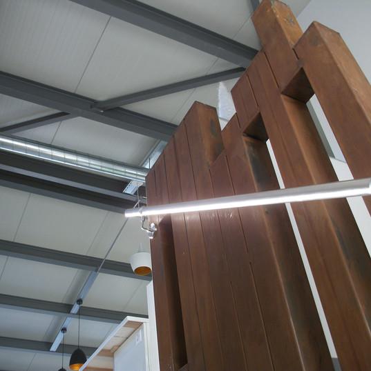 Fabrication d'un escalier en acier rouillé