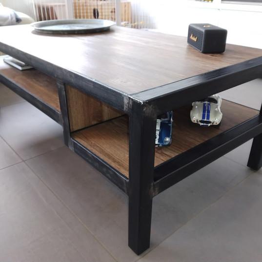 Fabrication d'une table de salon