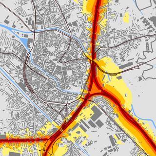 Rail noise maps