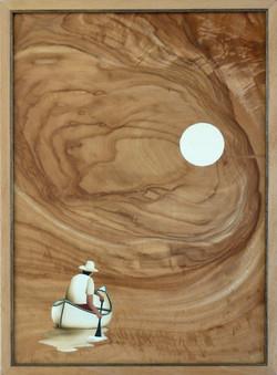 Canoe and moon
