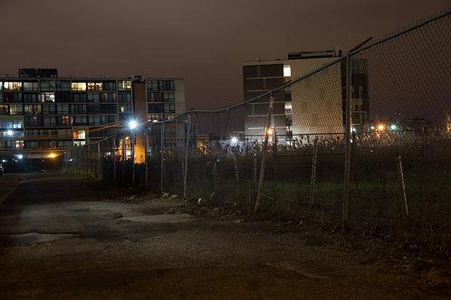 Fence At Night