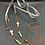 Thumbnail: Rose Quartz, Jade, and Copper Eyeglass Chain | Mask Chain